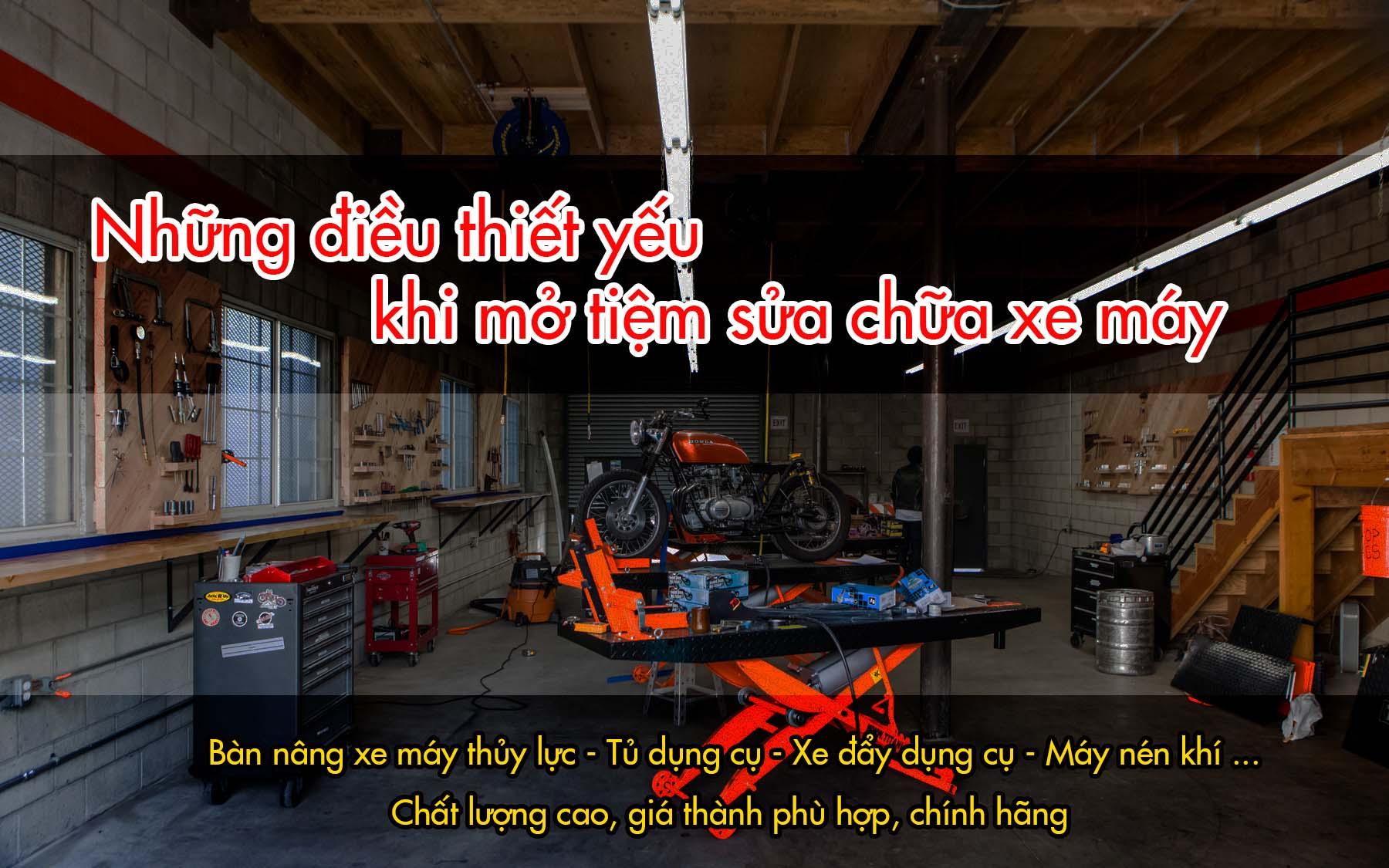 xây dựng tiệm sửa chữa xe máy